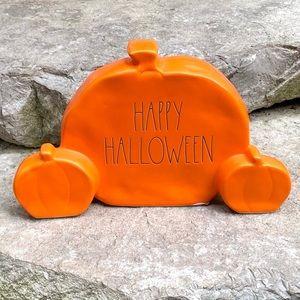 Rae Dunn HAPPY HALLOWEEN Pumpkin Trio Decor